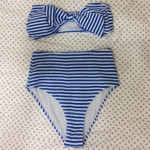 CUPSHE strapless & high waisted suit